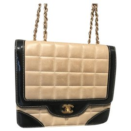 Chanel-Timeless vintage-Noir,Beige,Doré
