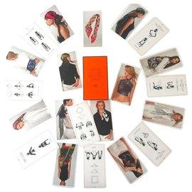 Hermès-Lot of 22 tie cards-Multiple colors
