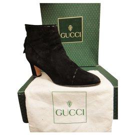 Gucci-bottines vintage Gucci p 37-Noir