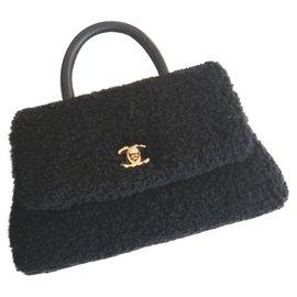 Chanel-Sac coco en peau de mouton noir Chanel-Noir