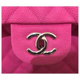 Chanel-Chanel Pink suede caviar Jumbo flap bag-Pink