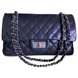 Chanel-Chanel classic black medium flap bag-Black