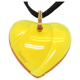 Baccarat-Baccarat Heart motif Necklace-Yellow