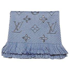 Louis Vuitton-Lenços de brilho da Louis Vuitton logomania-Azul