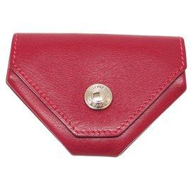 Hermès-Porte-Monnaie Hermès-Rouge
