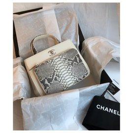 Chanel-NEW 2018 Tote full set Crossbody Bag-Cream