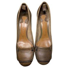 Chloé-Chloé - loafers with heel-Caramel