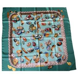 Hermès-Foulards de soie-Multicolore