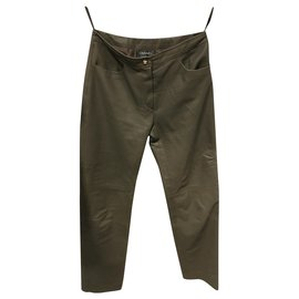 Chanel-Pants, leggings-Khaki