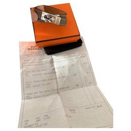 Hermès-Hermès Kelly lined lap bracelet-Taupe