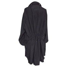 Alexander Mcqueen-Trench coats-Black