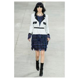 Chanel-runway 2014 veste de printemps-Blanc