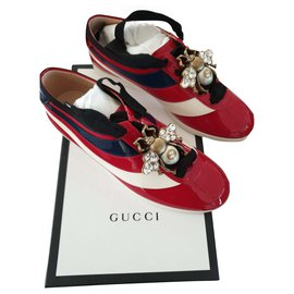 Gucci-Baskets gucci sneaker leather-Rouge