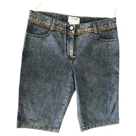 Chanel-Chanel demin shorts-Blue