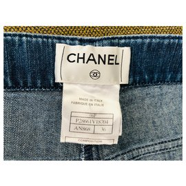 Chanel-Short Chanel Demin-Bleu