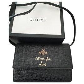 Gucci-Pochette Wallet woc-Noir