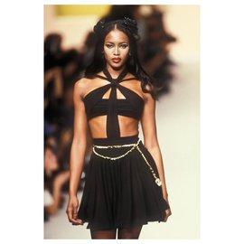 Chanel-Ultra rare 95 runway belt-Black