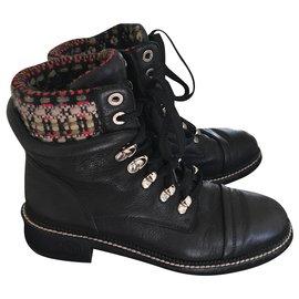 Chanel-Chanel biker boots-Black