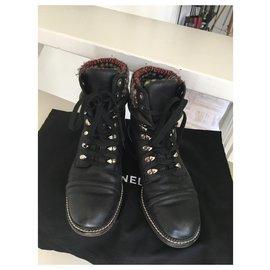 Chanel-Boots motardes Chanel-Noir