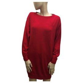 Moschino-Red sweater dress-Red