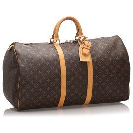 Louis Vuitton-Louis Vuitton Keepall Monogram Brown 55-Marron
