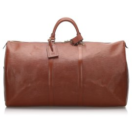 Louis Vuitton-Louis Vuitton Orange Epi Keepall 60-Orange