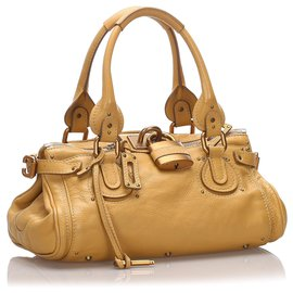 Chloé-Chloe Yellow Leather Paddington Handbag-Yellow