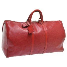 Louis Vuitton-Louis Vuitton Epi Keepall 55-Rouge