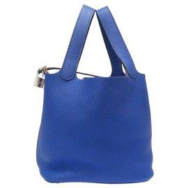 Hermès-Serrure Hermès Picotan MM-Bleu