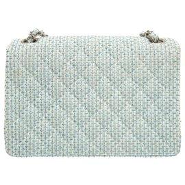 Chanel-Sac bandoulière Chanel doublé chaîne Matelasse-Bleu