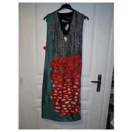 Balenciaga-BALENCIAGA sleeveless dress in silk T 40-Multiple colors