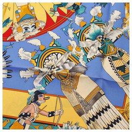 Hermès-Hermes Multi Printed Silk Scarf-Multiple colors