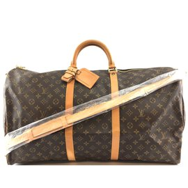 Louis Vuitton-Louis Vuitton Keepall Bandouliere 60 Toile monogramme-Marron