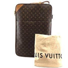 Louis Vuitton-Louis Vuitton Pegase 55 avec toile monogramme de vêtement-Marron