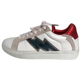 Zadig & Voltaire-Sneakers-White,Red,Blue
