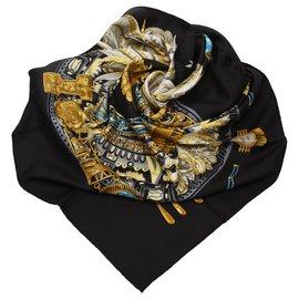 Hermès-Foulard en soie Hermes Multi LArbre de Soie-Multicolore