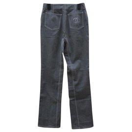 Chanel-Pants, leggings-Grey