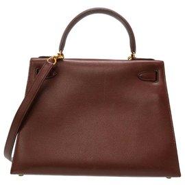 Hermès-Hermès Outer couture Kelly 28-Marron