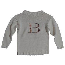 Burberry-Chandails-Blanc,Multicolore