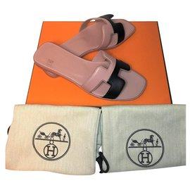 Hermès-Sandale Hermès Oran-Rose