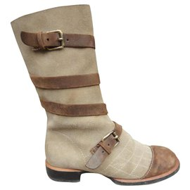 Chanel-Chanel p boots 37,5-Beige