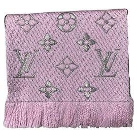Louis Vuitton-Sciarpa Louis Vuitton Logomania rosa-Pink