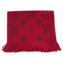 Louis Vuitton-Louis Vuitton Logomania red scarf-Red