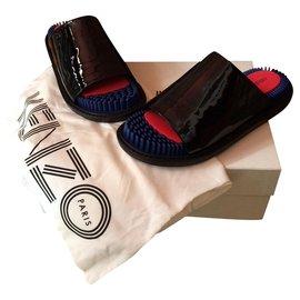 Kenzo-Mules-Black