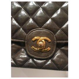 Chanel-Sacs à main-Marron foncé