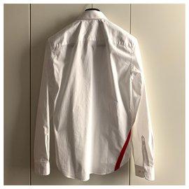 Carven-Baumwollhemd mit Streifen-Weiß