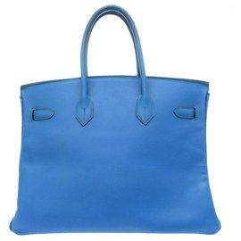 Hermès-HERMES BIRKIN 35-Bleu