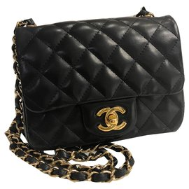 Chanel-Timeless flap bag mini square-Black