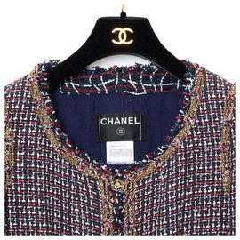 Chanel-TRICOLOR TWEED CHAINS FR38-Bleu Marine