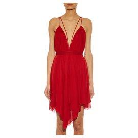 Balmain-Dresses-Red